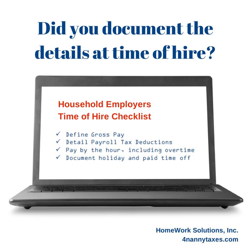 Household Employer Checklist