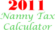 2011 nanny payroll tax calculator