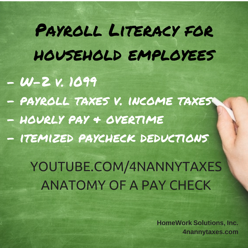 Payroll Literacy for household employees