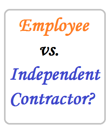 employee vs independent contractor