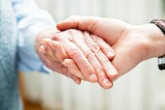Holding elder hand