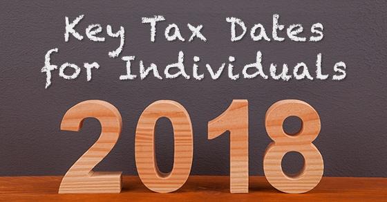 2018 tax caledar