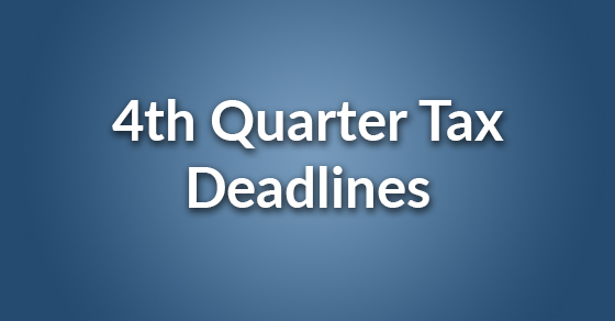 4th quarter tax deadlines