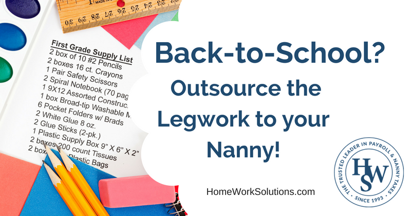 Nanny Help with Back To School Shopping and Planning