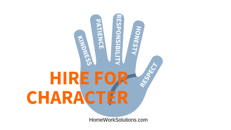 Hire for Character Train for Skills