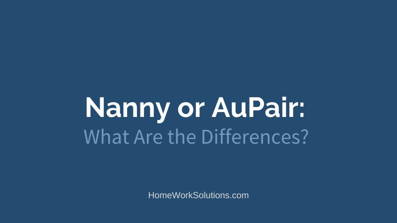 Nanny or AuPair