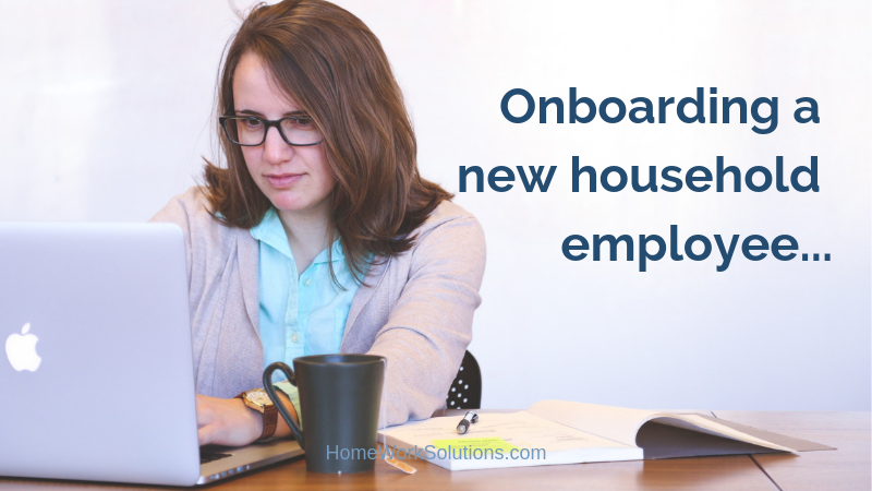 Onboarding a new household employee