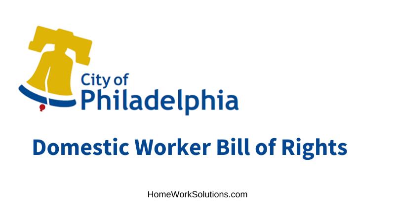 Phila Domestic Worker Bill of Rights