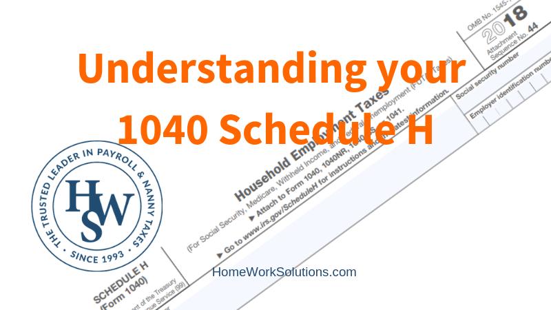 Understanding your 1040 Schedule H
