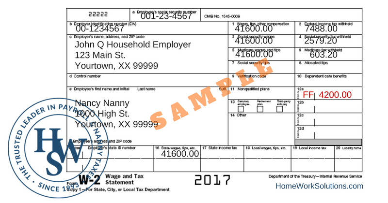 W-2 Reporting Required for Nanny Tax-Free Healthcare Benefits