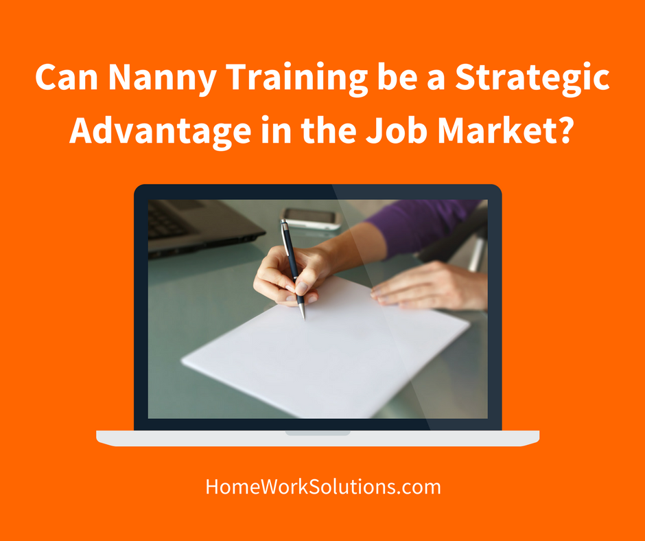 Can Nanny Training be a Strategic Advantage in the Job Market