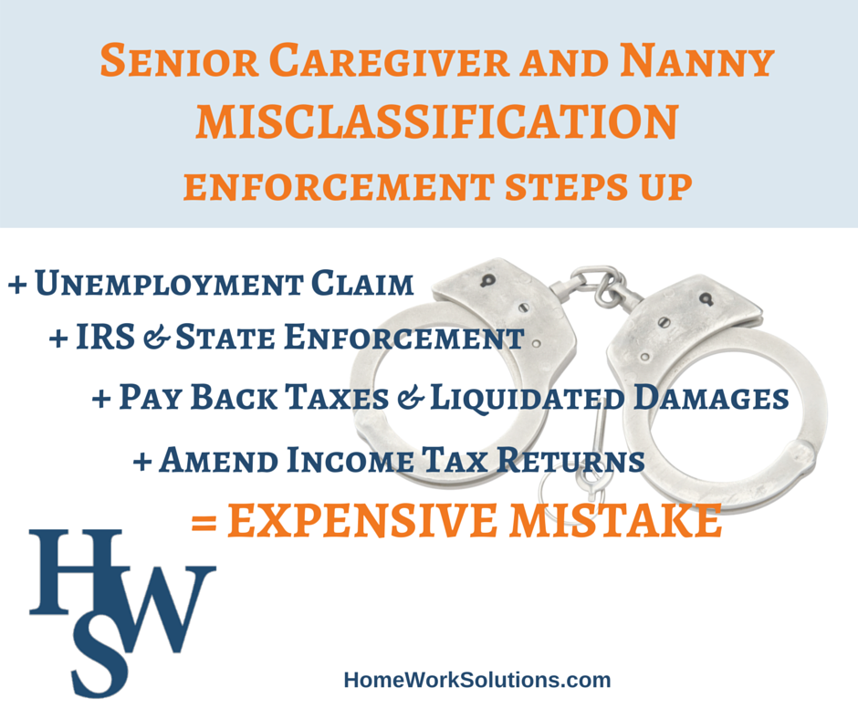 nanny caregiver misclassification independent contractor