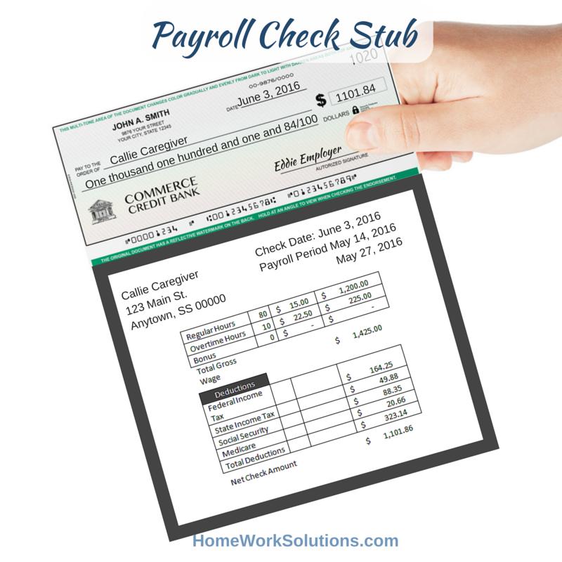 payroll check stubs