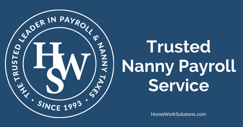 Trusted Nanny Payroll Service Homework Solutions