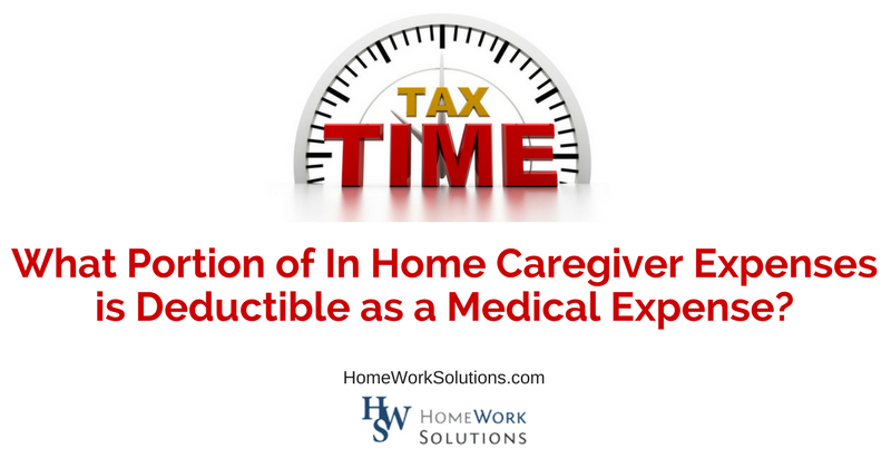 What Portion of In Home Caregiver Expenses is Deductible as a Medical Expense