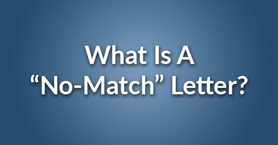 no match letter