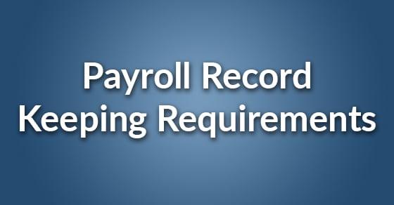 payroll record keeping
