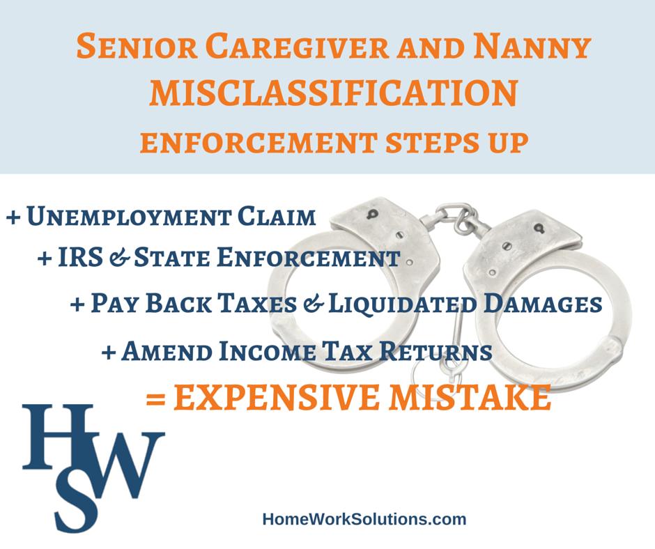 nanny senior care misclassification