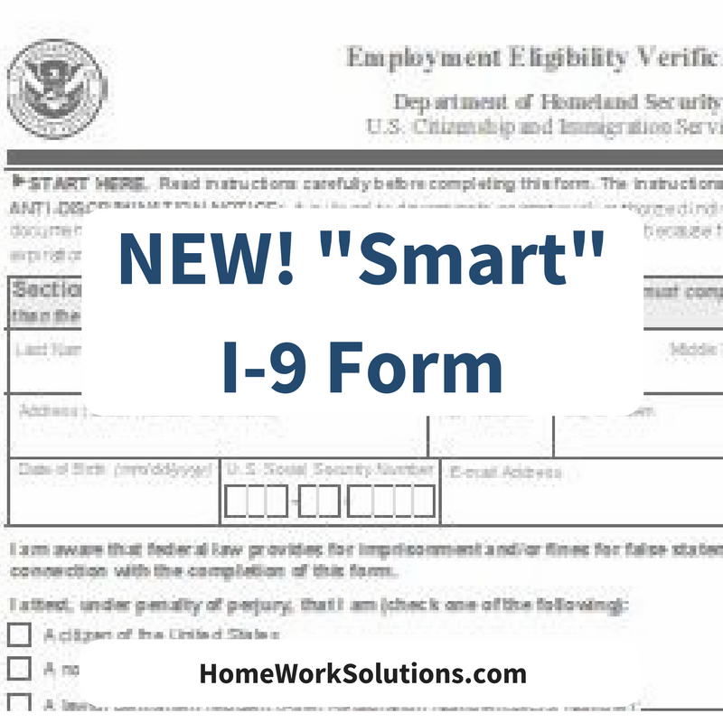 New Smart I-9 Form Jan 22 17