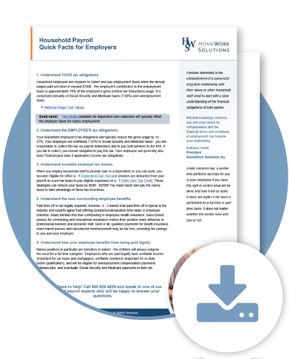 Michigan Household Employer Fact Sheet